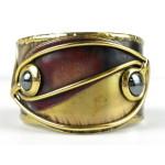 Continuity Hematite Copper and Brass Cuff