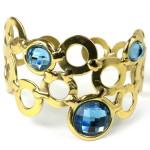 Sky Blue Bubble Brass Cuff