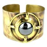 Shine On Hematite Brass Cuff