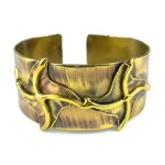 Brass Pinwheels Cuff