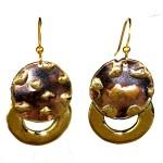 Make Your Mark Twice Brass Earrings