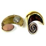 Evolution Brass Post Earrings