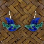 Enamel on Copper Peace Dove Earrings