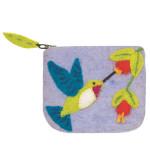 Felt Coin Purse - Hummingbird - Wild Woolies (P)