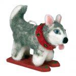 Felt Ornament Skiing Husky - Wild Woolies (H)