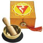 "Mini Meditation Bowl Box: 2"" Solar Plexus Chakra - DZI (Meditation)"
