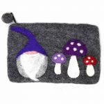 Handcrafted Gnome & Mushroom Pouch