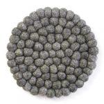 Felt Ball Trivets: Round, Dark Grey