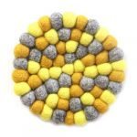 Felt Ball Trivets: Round Chakra, Yellows