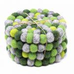 Felt Ball Coasters: 4-pack, Chakra Greens