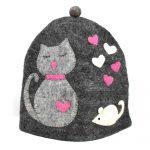 Handmade Felt Cat & Mouse Tea Cozy
