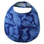 Babies Bib School of Fish Blue One Size - Global Mamas (B)