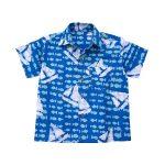 Boys Button Down Shirt Sailing Blue - Global Mamas (C)