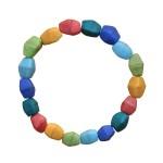 Multicolor Rainbow Glass Pebbles Bracelet