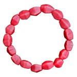 Pink Poppy Glass Pebbles Bracelet
