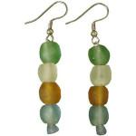 Rainbow Pearl Glass Bead Earrings - Global Mamas