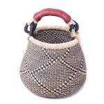 Small Bolga Pot Basket - Navy Neutral