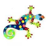 Recycled Oil Drum Painted Florida Design Gecko (Haiti)