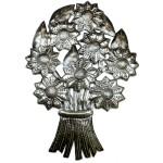 Bouquet of Flowers Metal Wall Art