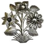 Flowers Metal Wall Art 15-inch Diameter