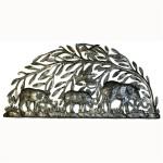 Steel Drum Art - Semi Circle Elephants