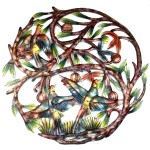 Tree of Life Hand Painted 24-inch Metal Wall Art