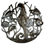 Seahorse and Fish Metal Art
