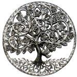 "Celtic Spring Tree of Life Ringed Haitian Steel Drum Wall Art, 23"""