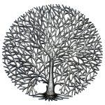 """Full Branches Tree of Life Haitian Steel Drum Wall Art, 23"""""""
