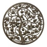 "Fruit & Birds Tree of Life Ringed Haitian Steel Drum Wall Art, 24"""
