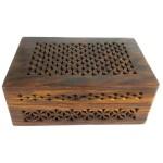 Handmade Lattice Cutwork Wood Box