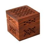 Handmade Small Lattice Cutwork Wood Box