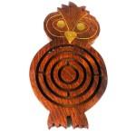 Handmade Wooden Night Owl Labyrinth
