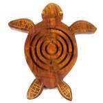 Handmade Wooden Sea Turtle Labyrinth