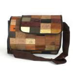 Large Leather Label Messenger Bag - Conserve