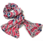 Pink Circles Polyester Scarf - Asha Handicrafts