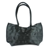 Black Seat Belt Tote with Snap