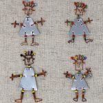 Set of 10 Dancing Pins with Maasai Beads
