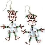 Recycled Tin Dancing Girl Earrings