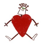 Dancing Girl Heart Pin
