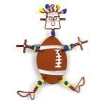 Dancing Girl American Football Pin - The Takataka Collection