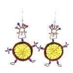 Dancing Girl Pizza Earrings - Creative Alternatives