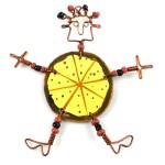 Dancing Girl Pizza Pin - The Takataka Collection