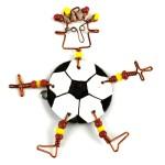 Dancing Girl Soccer Pin - The Takataka Collection