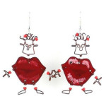 Dancing Girl Kiss Me Quick Earrings - Creative Alternatives