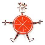 Dancing Girl Orange Slice Pin - The Takataka Collection