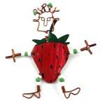 Dancing Girl Strawberry Pin - The Takataka Collection