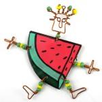 Dancing Girl Melon Slice Pin - The Takataka Collection