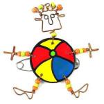 Dancing Girl Beach Ball Pin - Creative Alternatives