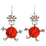 Dancing Girl Basketball Earrings - Creative Alternatives
